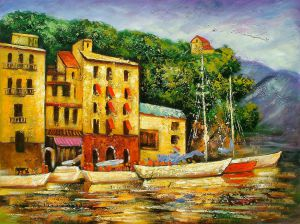 Boats At Rest - Oil Painting Reproduction On Canvas