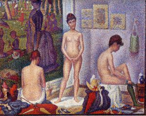Models (small version) - Georges Seurat Oil Painting