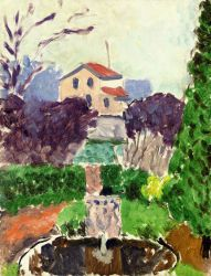 The Artist's Garden at Issy-les-Moulineaux - Henri Matisse Oil Painting