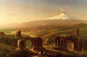 Mount Etna from Taormina - Thomas Cole Oil Painting
