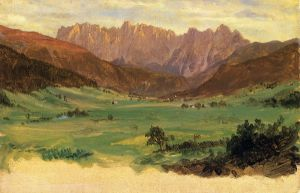 Hinter Schonau and Reiteralp Mountains, Bavaria - Frederic Edwin Church Oil Painting