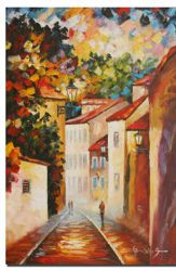 A Narrow Street - Oil Painting Reproduction On Canvas