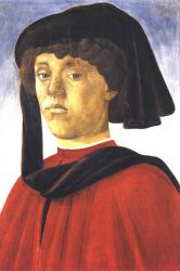 Portrait of a Young Man III - Sandro Botticelli Oil Painting
