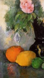 Flowers and Fruit - Paul Cezanne Oil Painting