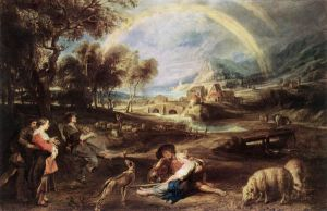 Landscape with a Rainbow - Peter Paul Rubens Oil Painting