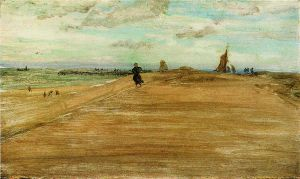 Beach Scene - James Abbott McNeill Whistler Oil Painting