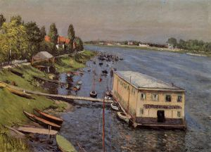Boathouse in Argenteuil - Gustave Caillebotte Oil Painting