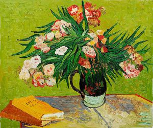 Majolica Jar with Branches of Oleander, 1888 - Vincent Van Gogh Oil Painting