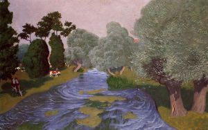 Landscape at Arques-la-Bataille - Felix Vallotton Oil Painting