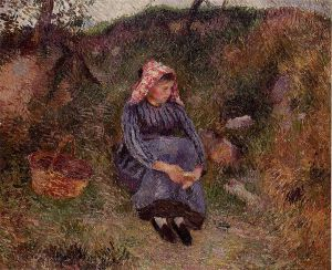 Seated Peasant Woman II - Oil Painting Reproduction On Canvas