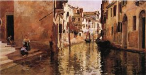 The Canal - Oil Painting Reproduction On Canvas