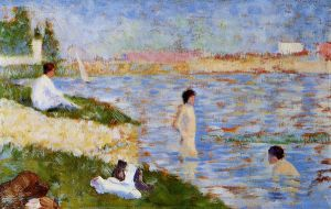 Bathers in the Water - Oil Painting Reproduction On Canvas