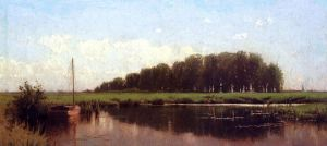 Duck Shootig on the Marshes - Alfred Thompson Bricher Oil Painting