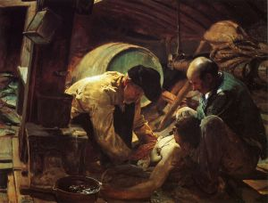 Yet They Say Fish is Expensive - Joaquin Sorolla y Bastida Oil Painting