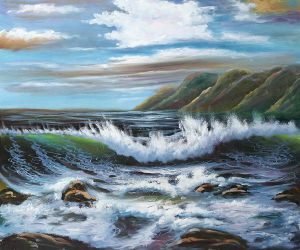 Brewing Tide - Oil Painting Reproduction On Canvas