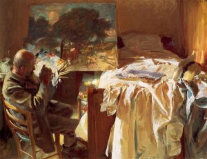 An Artist in His Studio - John Singer Sargent Oil Painting