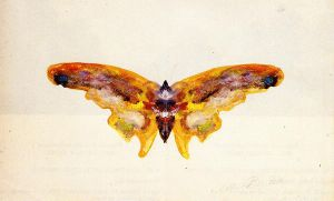 Butterfly - Albert Bierstadt Oil Painting