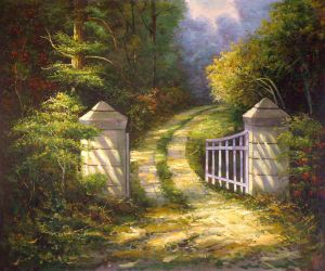 The Autumn Gate - Oil Painting Reproduction On Canvas