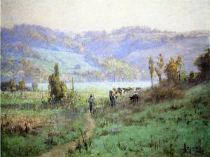 In the Whitewater Valley near Metamora - Theodore Clement Steele Oil Painting