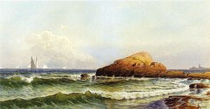Little Bass Rock, Narragansett Pier - Alfred Thompson Bricher Oil Painting