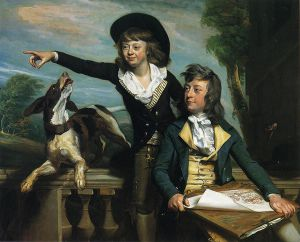 Charles Callis Western and His Brother Shirley Western) - John Singleton Copley Oil Painting