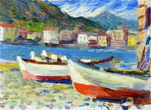 Rapallo, Boats - Oil Painting Reproduction On Canvas