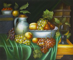 Evening's Harvest - Oil Painting Reproduction On Canvas