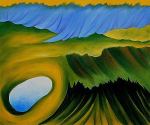 Mountains and Lake - Georgia O'Keeffe Oil Painting