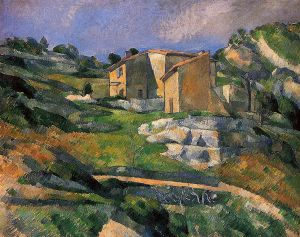 Houses in Provence - Paul Cezanne Oil Painting