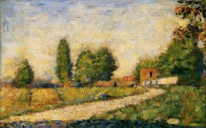 Village Road -   Georges Seurat Oil Painting