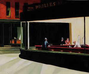 Night Hawks, 1942 - Edward Hopper oil painting