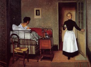 The Sick Girl - Felix Vallotton Oil Painting