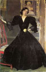 Clotilde in a Black Dress - Oil Painting Reproduction On Canvas