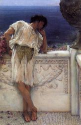 The Poet Gallus Dreaming - Sir Lawrence Alma-Tadema Oil Painting