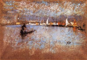 The guidecca-Winter: Grey and Blue - James Abbott McNeill Whistler Oil Painting