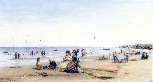 Trouville Beach - Conrad Wise Chapman Oil Painting