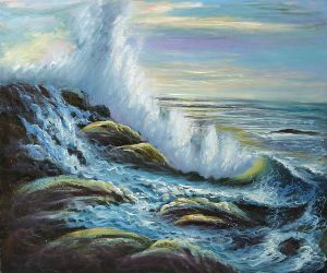 Raging Waters - Oil Painting Reproduction On Canvas