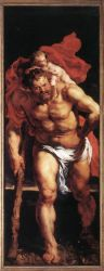 Descent from the Cross (outside left) - Peter Paul Rubens Oil Painting