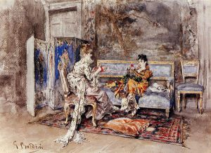 The Conversation -Giovanni Boldini Oil Painting