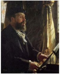 A Portrait of Jean-Baptiste Faure - Anders Zorn Oil Painting