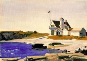 Coast Guard Station - Edward Hopper Oil Painting