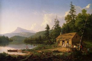 Home in the Woods - Thomas Cole Oil Painting