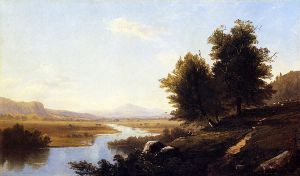 Landscape, The Saco from Conway - Alfred Thompson Bricher Oil Painting
