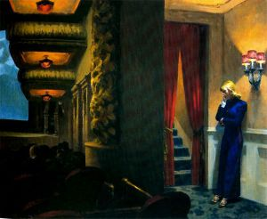 New York Movie - Edward Hopper Oil Painting