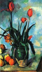 Tulips in a Vase - Paul Cezanne Oil Painting