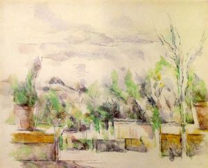 The Garden Terrace at Les Lauves - Paul Cezanne Oil Painting