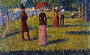 The Rope-Colored Skirt - Georges Seurat Oil Painting