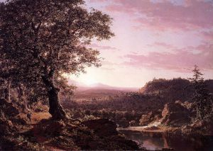 July Sunset, Berkshire County, Massachusetts - Frederic Edwin Church Oil Painting