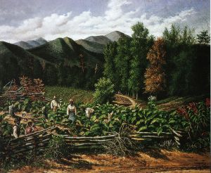 Tobacco Field with Five Figures (North Carolina) - William Aiken Walker Oil Painting