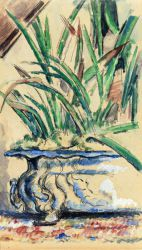 Blue Flowerpot - Paul Cezanne Oil Painting